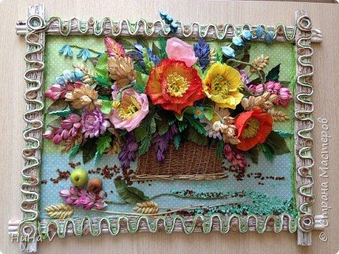 Корзинка с цветами  фото 9