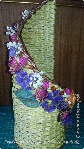 Добрый день!!!  Представляю вашему вниманию  бутылочницу , украшенную сухоцветом фото 12