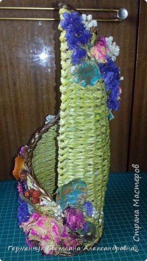 Добрый день!!!  Представляю вашему вниманию  бутылочницу , украшенную сухоцветом фото 15