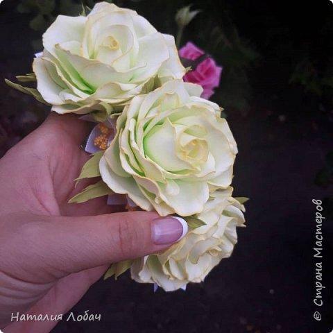 Ободок с розами из фоамирана фото 1