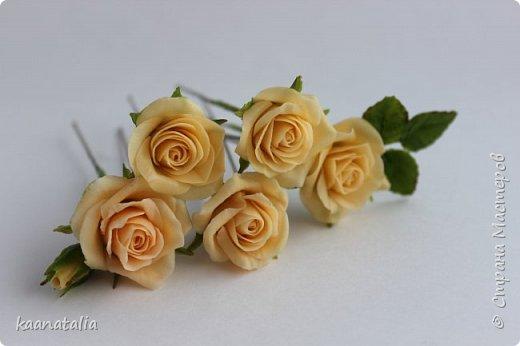 Шпильки персиковые розы фото 2