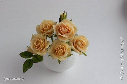 Шпильки персиковые розы фото 7