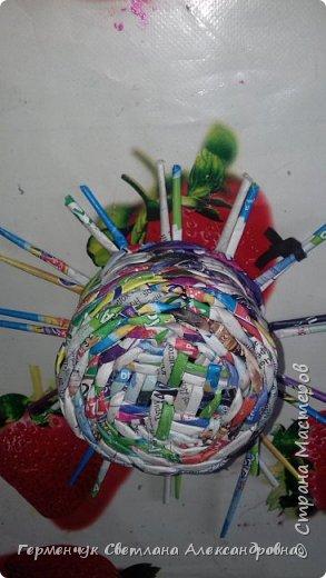 """Добрый день!!!  Сегодня представляю Вам  шкатулку """"Домовенок - оберег""""  из бумажных трубочек. фото 4"""