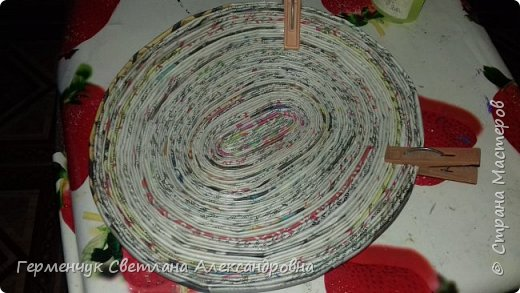 Добрый день , жители СМ  !!!  Моя первая проба -декоративная тарелка из трубочек фото 3