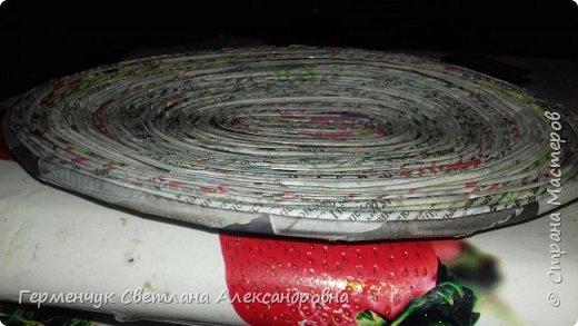 Добрый день , жители СМ  !!!  Моя первая проба -декоративная тарелка из трубочек фото 4
