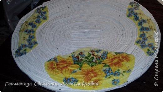 Добрый день , жители СМ  !!!  Моя первая проба -декоративная тарелка из трубочек фото 7