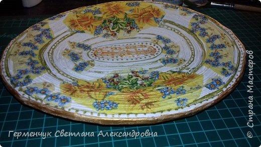 Добрый день , жители СМ  !!!  Моя первая проба -декоративная тарелка из трубочек фото 10