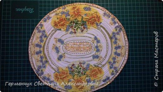 Добрый день , жители СМ  !!!  Моя первая проба -декоративная тарелка из трубочек фото 11
