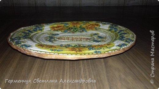 Добрый день , жители СМ  !!!  Моя первая проба -декоративная тарелка из трубочек фото 12