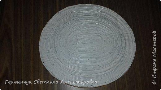 Добрый день , жители СМ  !!!  Моя первая проба -декоративная тарелка из трубочек фото 16