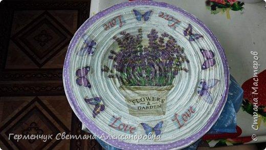 """Добрый всем  вечер!!! Представляю  вам  еще одну тарелочку """"Цветочный сад. Любовь"""" , чтобы была пара  Выполняла по предыдущему МК .   фото 6"""