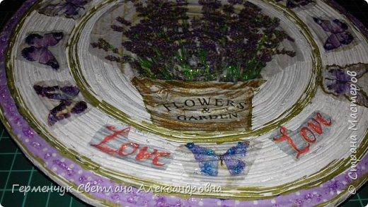 """Добрый всем  вечер!!! Представляю  вам  еще одну тарелочку """"Цветочный сад. Любовь"""" , чтобы была пара  Выполняла по предыдущему МК .   фото 10"""
