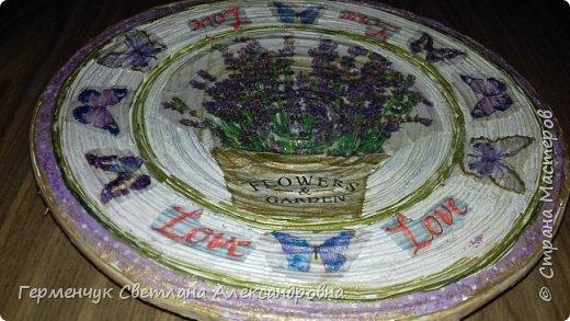 """Добрый всем  вечер!!! Представляю  вам  еще одну тарелочку """"Цветочный сад. Любовь"""" , чтобы была пара  Выполняла по предыдущему МК .   фото 12"""