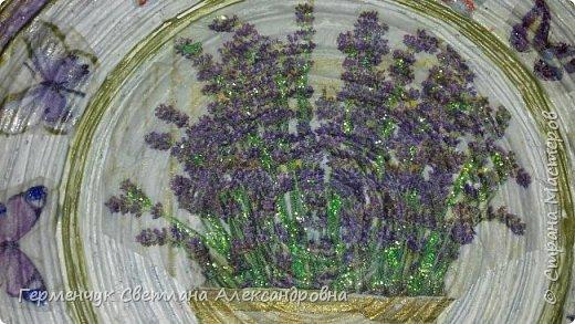 """Добрый всем  вечер!!! Представляю  вам  еще одну тарелочку """"Цветочный сад. Любовь"""" , чтобы была пара  Выполняла по предыдущему МК .   фото 13"""