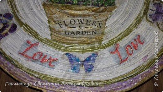 """Добрый всем  вечер!!! Представляю  вам  еще одну тарелочку """"Цветочный сад. Любовь"""" , чтобы была пара  Выполняла по предыдущему МК .   фото 14"""