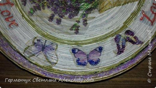 """Добрый всем  вечер!!! Представляю  вам  еще одну тарелочку """"Цветочный сад. Любовь"""" , чтобы была пара  Выполняла по предыдущему МК .   фото 15"""