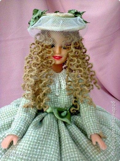 """Что то я в последнее время """"подсела"""" на кукол. Были в запасах ножницы, решила будет ПАРИКМАХЕР! фото 5"""