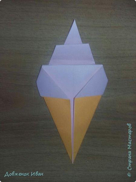 """Добрый день. Провёл мастер-класс по оригами для детей в возрасте от 3 года до 14 лет. Мероприятие называлось """"Пингвины без ангины"""".  Работы предназначены для раннего развития детей  Очень много было желающих сделать вот такое мороженное рожок.   Работы делаем по сложности изготовления 1)   фото 2"""
