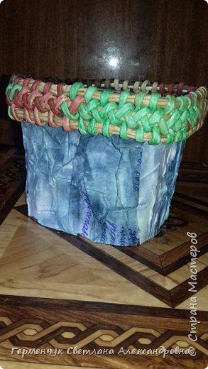 Всем  добрый вечер!!!  Сегодня я хочу показать  вам   изготовление кашпо . Мастер класс увидела у мастерицы Lucruri  Iscusite. фото 7