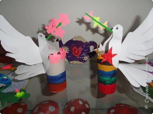ВСем привет. Выставила  работы сделанные детками в апреле.   Совушки. Их я увидела здесь, на сайте, запомнила, но идейника  забыла! фото 8