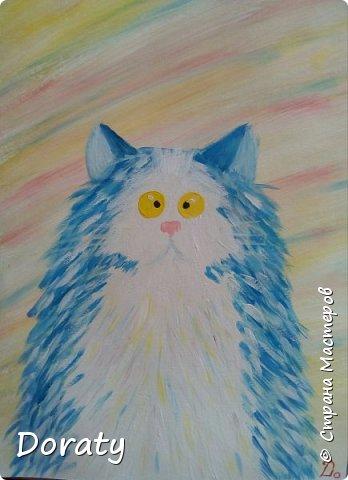 Что то захотелось мне порисовать котиков. Очень вдохновили меня коты Kim Haskins. По мотивам ее работ, появились на свет и мои котики. фото 2