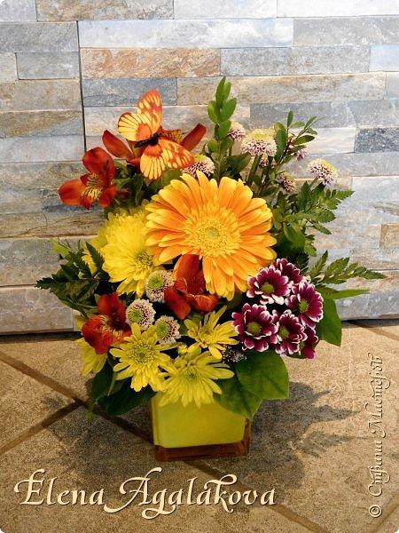 Добрый день! Этим летом я решила осуществить еще одну свою мечту - научится цветочному дизайну. Очень люблю цветы, травки-муравки, деревья и вообще все растения. Уже второй месяц я учусь создавать красоту! Очень увлекательно работать с цветами! Я взяла небольшой курс по цветочному дизайну. Дома делаю оранжировки из того что под рукой, беру цветы из своего садика. Другие композиции делала для цветочного магазина где прохожу практику. Делюсь красотой! фото 6
