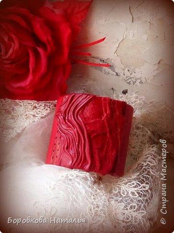 Цветы из кожи фото 16
