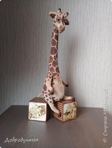 жираф сшит по выкройке Виктории Макаровой фото 1