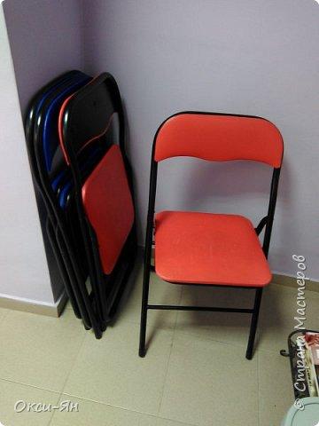 Забежала на минутку поделиться моими стульями в стоматологический кабинет.Там намечается ремонт и будут сменены стулья.Вот мне пришла в голову идея из старых,определенно уже не очень хороших сделать вот таких красавцев.Все восстановлено,можно даже прыгать на них фото 4