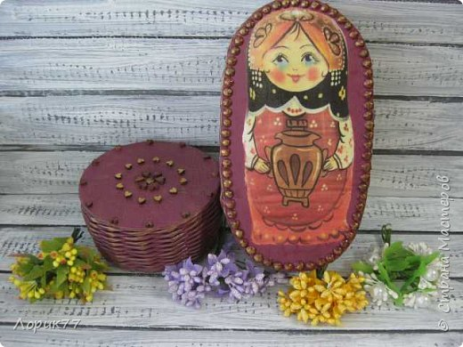 Здравствуйте! Небольшой набор из двух шкатулок и африканки. фото 14