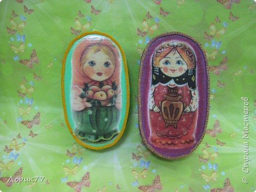 Здравствуйте! Небольшой набор из двух шкатулок и африканки. фото 11