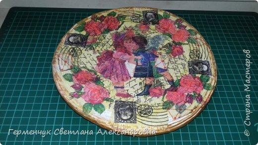 Добрый всем вечер!!!  Недавно купила   очень красивые салфетки   и решила сделать  еще одну тарелку  . фото 2