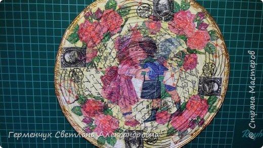 Добрый всем вечер!!!  Недавно купила   очень красивые салфетки   и решила сделать  еще одну тарелку  . фото 3