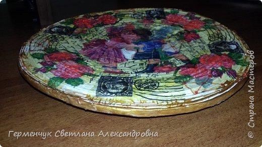 Добрый всем вечер!!!  Недавно купила   очень красивые салфетки   и решила сделать  еще одну тарелку  . фото 4