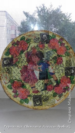 Добрый всем вечер!!!  Недавно купила   очень красивые салфетки   и решила сделать  еще одну тарелку  . фото 6