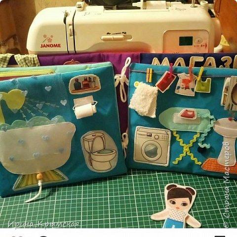 Кукольный домик из ткани и фетра  фото 4