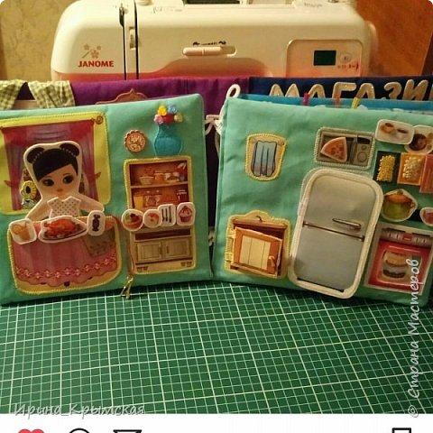 Кукольный домик из ткани и фетра  фото 3