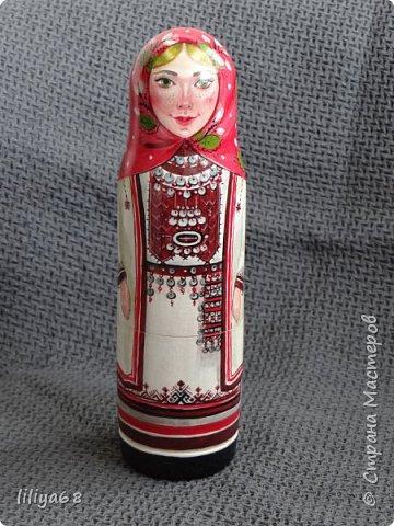 марийская матрёшка_ одноместная_17см. фото 1
