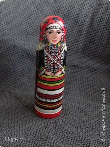 марийская матрёшка_ одноместная_17см. фото 5