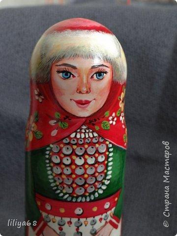 марийская матрёшка_ одноместная_17см. фото 8
