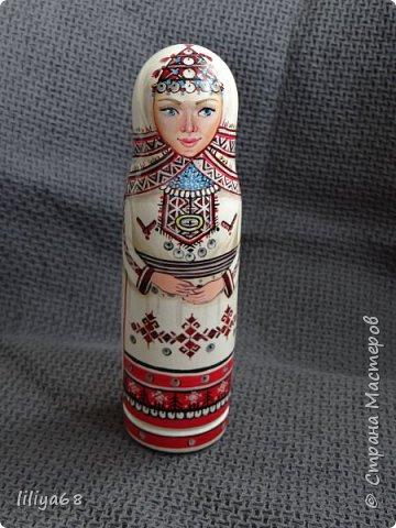 марийская матрёшка_ одноместная_17см. фото 9