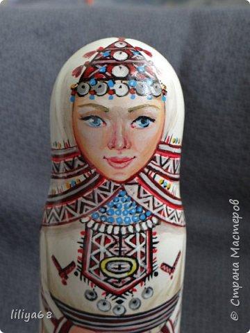 марийская матрёшка_ одноместная_17см. фото 10