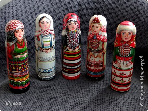 марийская матрёшка_ одноместная_17см. фото 19