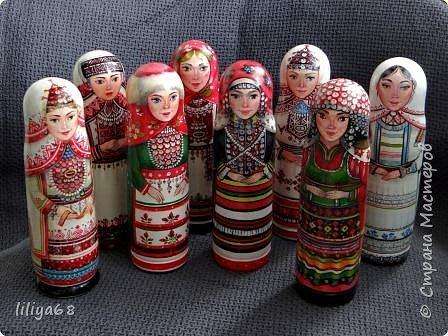 марийская матрёшка_ одноместная_17см. фото 20