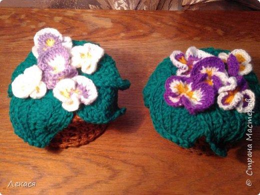 цветы Анютины глазки крючком фото 3