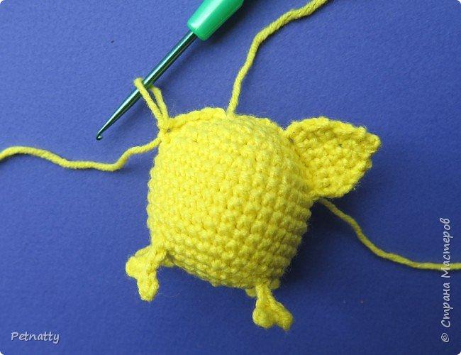 Хочу вам показать, как связать крючком свинку – символ следующего года. Вяжется свинка достаточно просто и быстро. фото 16