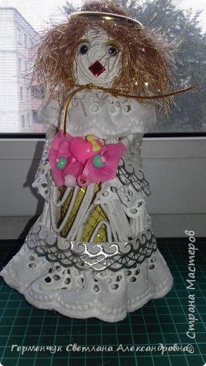 Жители СМ, добрый вечер!!!  Сегодня представляю вашему вниманию    мою первую  пробу  куколку -  ангела  фото 2