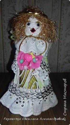 Жители СМ, добрый вечер!!!  Сегодня представляю вашему вниманию    мою первую  пробу  куколку -  ангела  фото 30