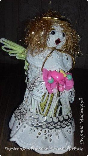 Жители СМ, добрый вечер!!!  Сегодня представляю вашему вниманию    мою первую  пробу  куколку -  ангела  фото 1