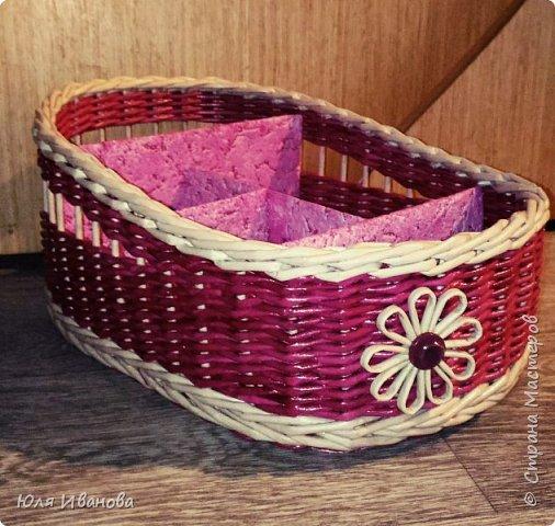 Сплелась у меня вот такая коробочка-косметичка подруге на день рождение. фото 2